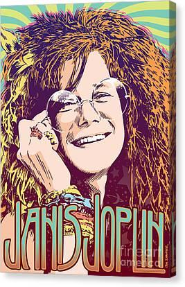 Janis Joplin Pop Art Canvas Print by Jim Zahniser