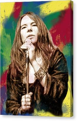 Janis Joplin - Stylised Drawing Art Poster Canvas Print by Kim Wang