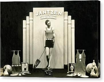 Jantzen Swim Suit Display Canvas Print by Underwood Archives