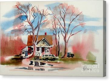 January Afternoon Canvas Print by Kip DeVore