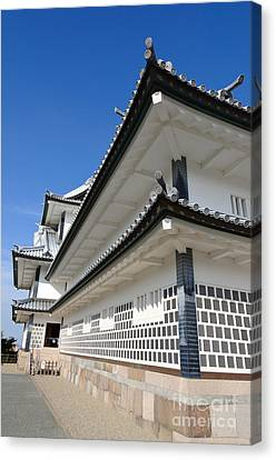 Japanese Castle Close-up Canvas Print by David Hill