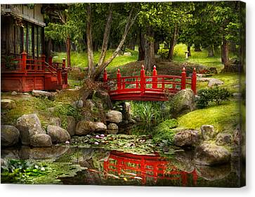 Japanese Garden - Meditation Canvas Print by Mike Savad