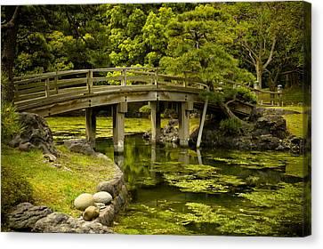 Japanese Garden Tokyo Canvas Print by Sebastian Musial
