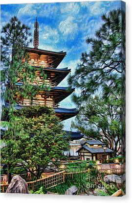 Japanese Pagoda II Canvas Print by Lee Dos Santos