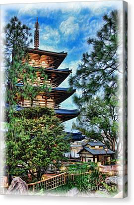 Japanese Pagoda Canvas Print by Lee Dos Santos
