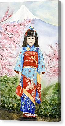 Japanese Spring Canvas Print by Leslie Westover