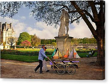 Jardin Du Luxembourg  Canvas Print by Maria Angelica Maira