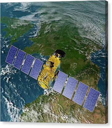 Jason-3 Satellite Canvas Print by Nasa/jpl-caltech