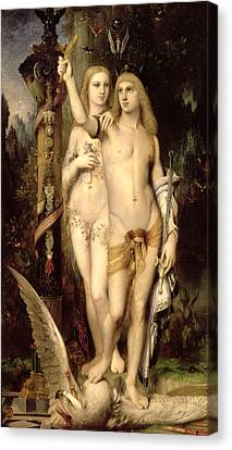 Jason And Medea Canvas Print by Gustave Moreau