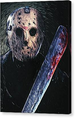 Jason Voorhees Canvas Print by Taylan Soyturk