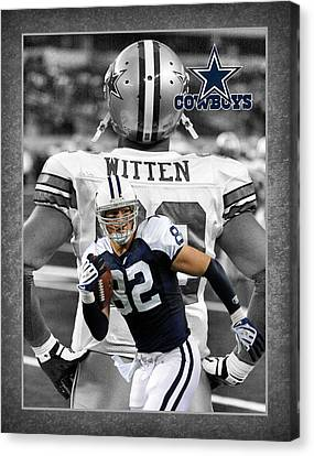 Jason Witten Cowboys Canvas Print by Joe Hamilton