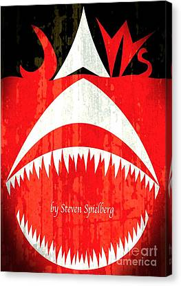 Jaws Minimalist Poster  Canvas Print by Stefano Senise