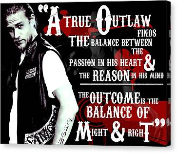 Jax Teller Canvas Print by Anibal Diaz