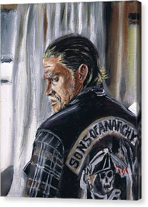 Jax Teller Canvas Print by Demian Legg