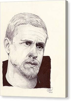 Jax Teller Canvas Print by Kyle Willis