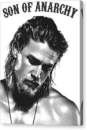 Jax Teller - Son Of Anarchy Canvas Print by Helena Kay