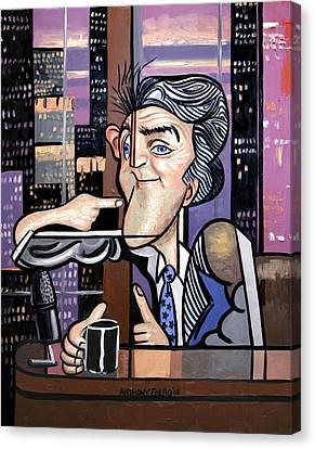 Jay Leno You Been Cubed Canvas Print by Anthony Falbo