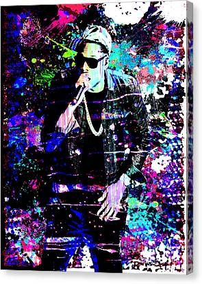 Jay Z Original Painting Art Print Canvas Print by Ryan Rock Artist
