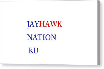 Jayhawk Nation Canvas Print by Aaron Martens