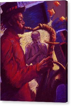 Jazz Duet Canvas Print by Ellen Dreibelbis