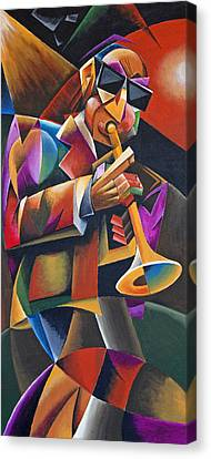 Jazz Horn Canvas Print by Bob Gregory
