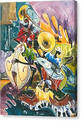 Jazz No. 4 Canvas Print by Elisabeta Hermann