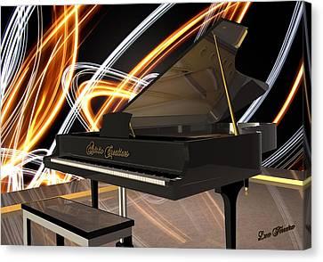 Jazz Piano Bar Canvas Print by Louis Ferreira