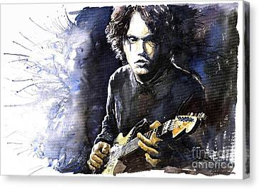 Jazz Rock John Mayer 03  Canvas Print by Yuriy  Shevchuk