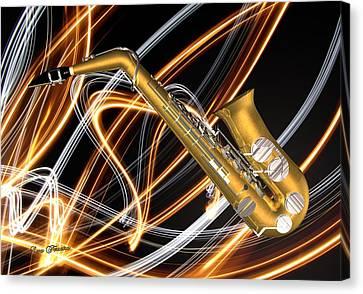 Jazz Saxaphone  Canvas Print by Louis Ferreira