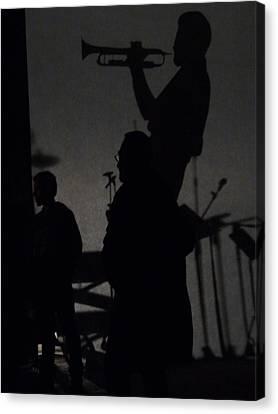 Jazz Shadows Canvas Print by Bill Mock
