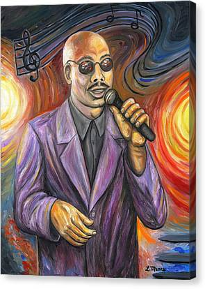 Jazz Singer Canvas Print by Linda Mears