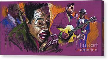 Jazz Songer Canvas Print by Yuriy  Shevchuk