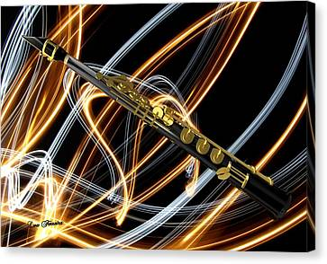 Jazz Soprano Sax Canvas Print by Louis Ferreira
