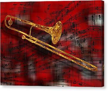 Jazz Trombone Canvas Print by Jack Zulli