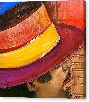 Jazzman Canvas Print by Debi Starr