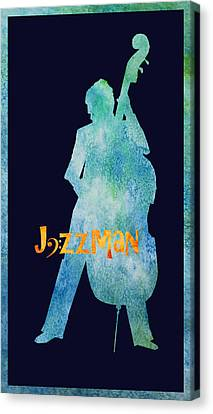 Jazzman Canvas Print by Jenny Armitage