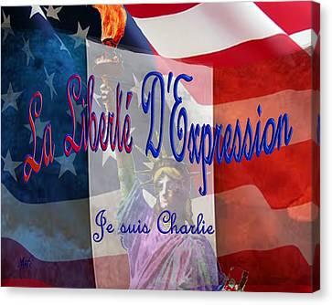 Je Suis Charlie Canvas Print by Michele Avanti