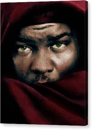Jealous Othello Canvas Print by Georgiana Romanovna