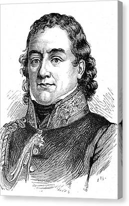 Jean Dominique Larrey Canvas Print by Collection Abecasis