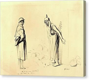 Jean-louis Forain, -quest-ce Vous Voulez  -les Louis De 1871 Canvas Print by Litz Collection