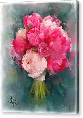 Jean's Bouquet Canvas Print by Colleen Taylor