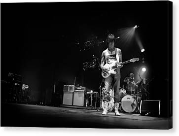 Jeff Beck On Guitar 5 Canvas Print by The  Vault - Jennifer Rondinelli Reilly