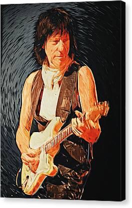 Jeff Beck Canvas Print by Taylan Soyturk
