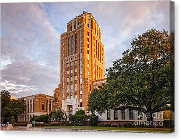 Jefferson County Courthouse At Sunrise - Beaumont East Texas Canvas Print by Silvio Ligutti