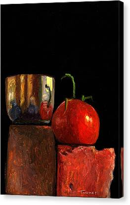 Jefferson Cup With Tomato And Sedona Bricks Canvas Print by Catherine Twomey