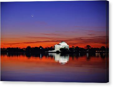 Jefferson Memorial At Dawn Canvas Print by Metro DC Photography