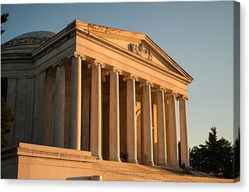 Jefferson Memorial Sunset Canvas Print by Steve Gadomski