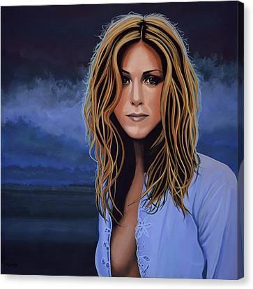 Jennifer Aniston Canvas Print by Paul Meijering