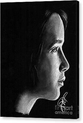 Jennifer Lawrence Canvas Print by Rosalinda Markle