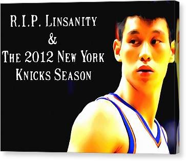 Jeremy Lin New York Knicks Season Canvas Print by Lanjee Chee